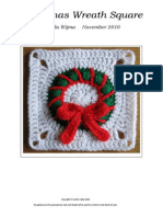 Christmas Wreath Square