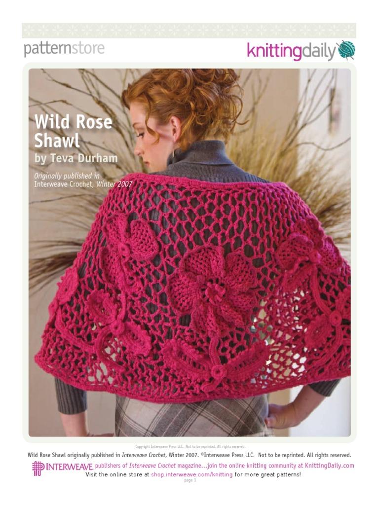 Wild Rose Shawl Crochet Yarn