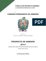 Admision.unsch.edu.Pe PDF Prospecto