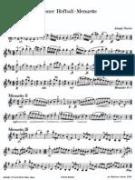 Haydn Wiener Hofball Menuette Vl1