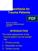 5 Anesthesia for Trauma Patients,Dr.ho Opere,April2013