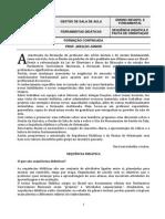 FORMAÇÃO CONTINUADA - GESTÃO DE SALA DE AULA E FERRAMENTAS DE GESTÃO - SEQUÊNCIA DIDÁTICA E PAUTA DE ORIENTAÇÃO
