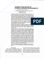 Student-Centered Learning Environments