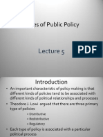 Lecture on Public Policy