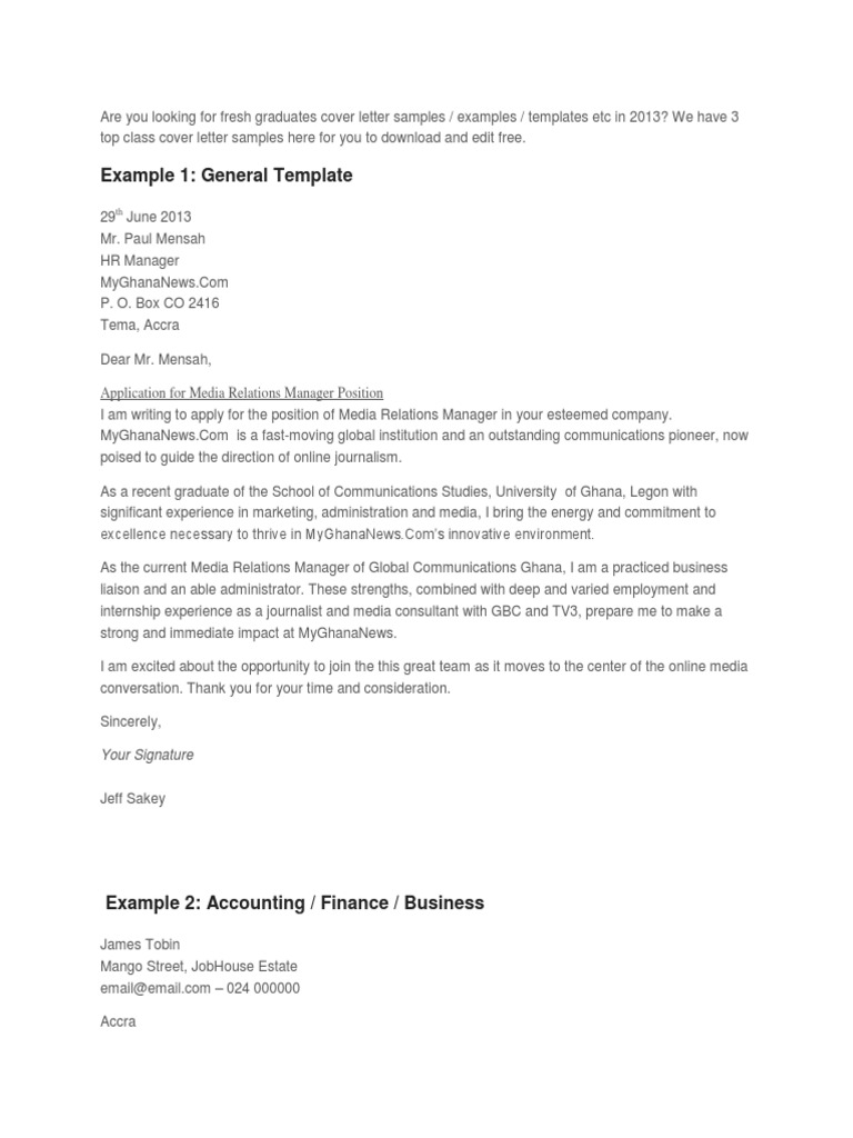 Recent Graduate Cover Letter Sample from imgv2-2-f.scribdassets.com