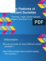 key features of ancient societies introductory