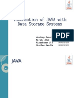 Interaction of JAVA with Data Storage systems - Non Technical