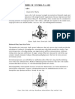 Types of Control Valves