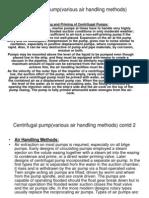 Centrifugal Pump(Various Air Handling Methods)