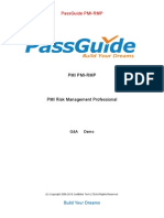 Risk Management (RMP) PMI Sample questions