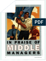 2 in Praise of Middle Managers