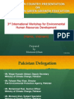 Low Carbon Green Growth Education in Pakistan