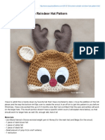 Rudolph the Reindeer Hat Pattern