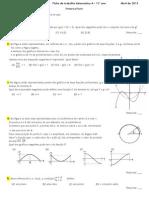 Ficha de Trabalho Matemática, 11º ano