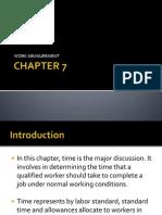 CHAPTER 7 - Work Measurement