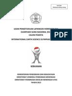 Soal Lapangan Hidrogeologi Osn Kebumian 2013