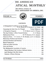 American Mathematical Monthly - 1947-08