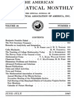 American Mathematical Monthly - 1947-06