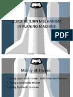41940026 Planer Quick Return Mechanism