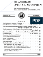 American Mathematical Monthly - 1947-05