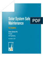Solar Safety and Maintenance for Installers