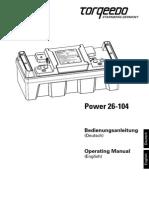 Power 26-104 Deutsch Englisch New