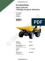 Lifton Neuson Wacker 6001 Dumper Parts BOOK