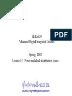 Advanced Digital Integrated Circuits