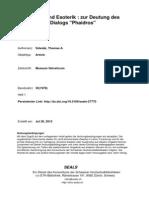 104412452 Szlezak Thomas Dialogform Und Esoterik Zur Deutung Des Platonischen Dialogs Phaidros