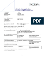 Aczenta - Questionnaire