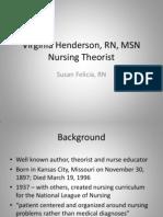 Susan Felicia Virginia Henderson RN MSN