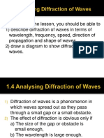 1.4 Analysing Diffraction of Waves