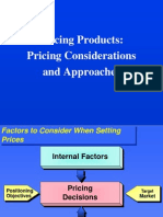 Pricing Consideration n Approaches