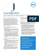 Dell PowerEdge M915 Spec Sheet