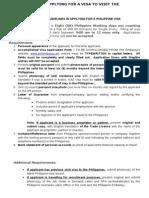 Visa Form (Word Format)-New