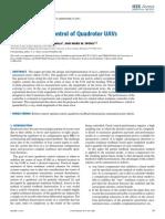 Robust Optimal Control of Quadrotor UAVs