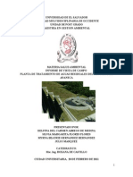 Informe Planta Trat. Aguas Residuales