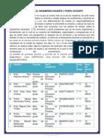 DESEMPEÑO DOCENTE ASIGNATURAS ESPAÑOL, MATEMATICAS Y CIENCIAS
