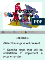 Barangay Operational Framework