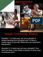 Gospel Community Mission (Discipleship)