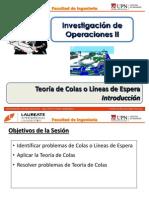 T2.1 IO II - UPN - Teoría de Colas - Introducción