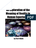 An Exploration of the Meaning of Reality in Human Experience
