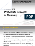 Probability Concepts in Planning