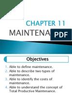 CHAPTER 11 - Maintenance