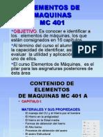 MC401 - Elementos de Maquina - Clases de todo el Ciclo