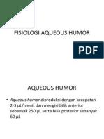 Fisiologi Aqueous Humor