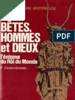 Ossendowsky Ferdinand - Bêtes Hommes et Dieux