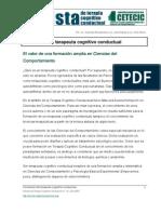 Formacion Del Terapeuta Cognitivo Conductual