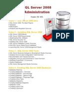 SQL Server 2008 Administration Course Outline