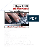 More Than 100 Keyboard Shortcuts Must Read